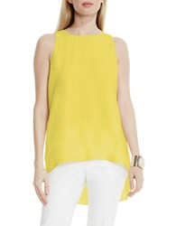 Vince Camuto Sleeveless High Low Blouse Yellow