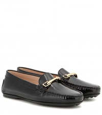 Tod's Gomma Patent Leather Loafers Black