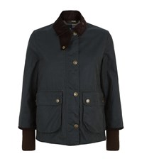 Barbour Border Cropped Jacket Female Green