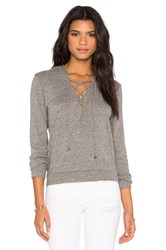 Lanston Lace Up Hoodie Gray