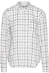 Elizabeth And James Carine Checked Woven Shirt White