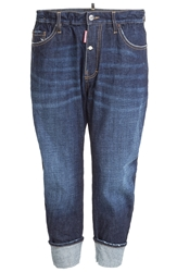Dsquared Cuffed Distressed Jeans