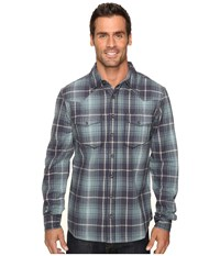 Ecoths Tucker Long Sleeve Shirt Ombre Blue Men's Clothing Navy