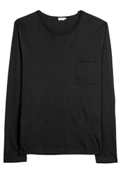 Filippa K Long Sleeved Top Black Black Denim