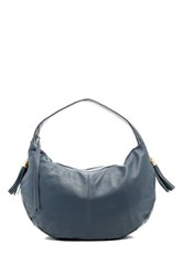 Onna Ehrlich Taja Leather Shoulder Handbag Gray