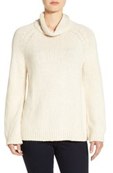 Eileen Fisher Women's Organic Cotton Cowl Neck Sweater Soft White