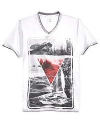 Inc International Concepts Men's Graphic Print T Shirt Only At Macy's White Pure