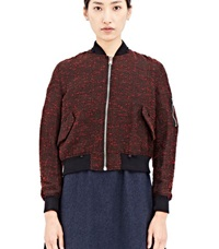 Archive Yang Li Tweed Ma 1 Bomber Red