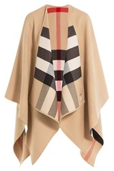 Burberry Shoes And Accessories Merino Wool Cape Multicolor