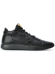Giuseppe Zanotti Design Side Zip Low Top Sneakers Black