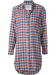 Frank And Eileen 'Mary' Plaid Shirt Dress Red