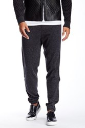 Quinn Carlyle Genuine Leather And Cashmere Jogger Gray