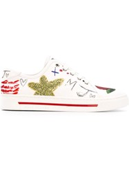 Marc Jacobs 'Collage Print' Sneakers White