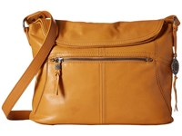 The Sak Esperato Flap Hobo Ochre Hobo Handbags Orange