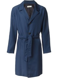 Melindagloss Belted Overcoat Blue
