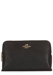 Coach Black Grained Leather Cosmetics Case