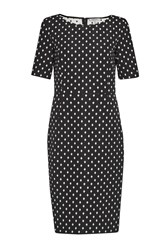 Great Plains Ikat Spot Stretch Pencil Dress Black