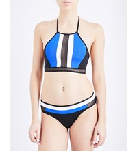 Jets By Jessika Allen Electrify High Neck Bikini Top Black Oceanic