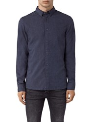 Allsaints Millard Long Sleeve Shirt Blue