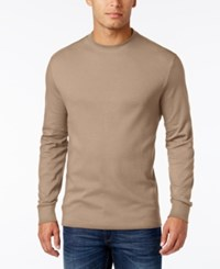 John Ashford Men's Big And Tall Interlock Crew Neck T Shirt Only At Macy's Toast Heat