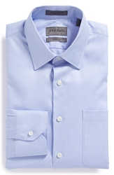 John W. Nordstrom Classic Fit Herringbone Dress Shirt Blue