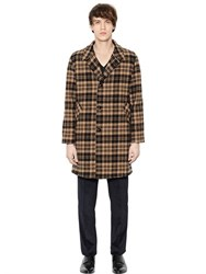 Massimo Piombo Plaid Virgin Wool Coat