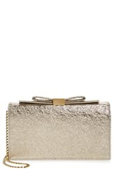 See By Chloe Nora Metallic Leather Clutch