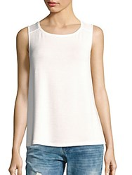 Rag And Bone Solid Sleeveless Tank White