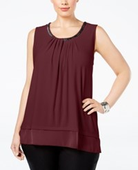 Alfani Plus Size Chain Neck Layered Top Only At Macy's Marooned