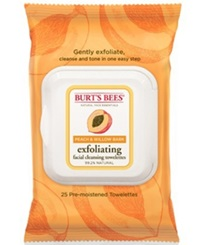 Burt's Bees Facial Cleansing Towelettes Peach And Willow Bark Exfoliating 25 Count
