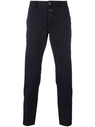 Closed Stretch Tapered Trousers Blue