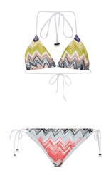 Missoni Mare Triangle Side Tie Bikini Multi