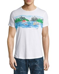 Orlebar Brown Canoe Canoodle Tailored Fit Crewneck T Shirt White