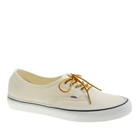 Unisex Vans For J.Crew Canvas Authentic Sneakers White
