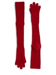Maison Martin Margiela Long Wool Gloves 27 Red Black
