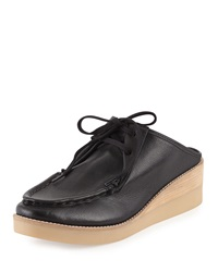 Essex Washed Leather Mule Black Derek Lam 10 Crosby