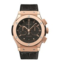 Hublot Classic Fusion 45Mm Chronograph King Gold Watch Unisex Black