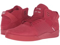 Supra Skytop Iii Red Suede Canvas Men's Skate Shoes