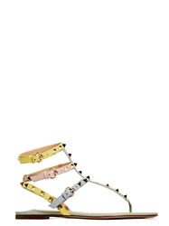 New Season Valentino Womens Studded Thong Sandals