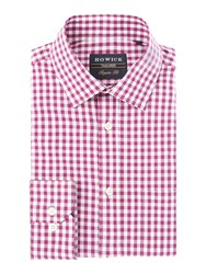 Howick Men's Tailored Sumit Gingham Shirt Pink