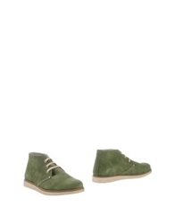 Bage Ankle Boots Military Green