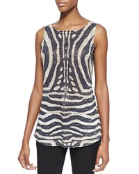 Cullen Tiger Print Linen Blend Top Women's