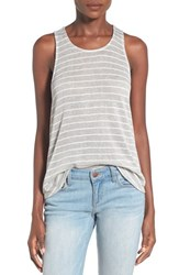Women's Soprano Stripe Swing Tank Grey