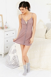 Out From Under Henley Slip Dress Purple