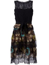 Etro Lace Layered Dress Black