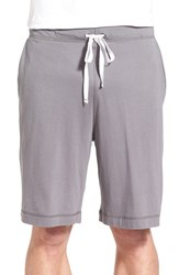 Daniel Buchler Men's Pima Cotton And Modal Lounge Shorts Grey