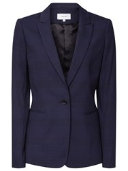 Reiss Ambra Single Breasted Blazer Navy