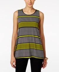 Alfani Striped Tank Top Only At Macy's Black Lime