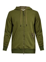 Adidas By Day One Utility Cotton Blend Jersey Hooded Sweatshirt Green Multi