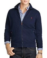 Polo Ralph Lauren Ribbed Cotton Full Zip Cardigan Sweater Cruise Navy